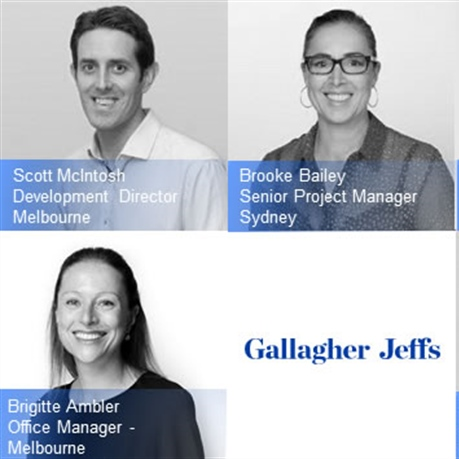 Gallagher Jeffs promotions for Melbourne and Sydney team members